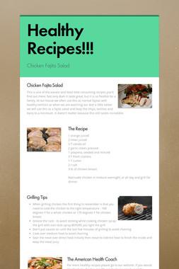 Healthy Recipes!!!