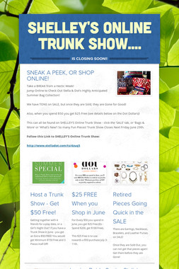Shelley's Online Trunk Show....