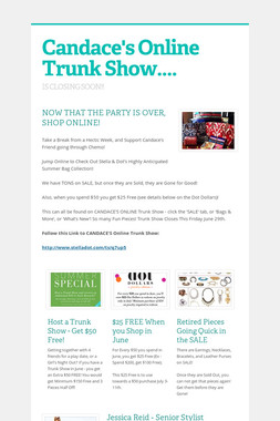 Candace's Online Trunk Show....