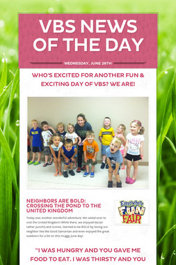 VBS NEWS OF THE DAY