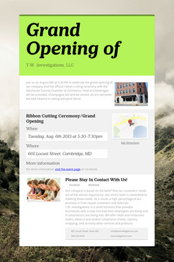 Grand Opening of
