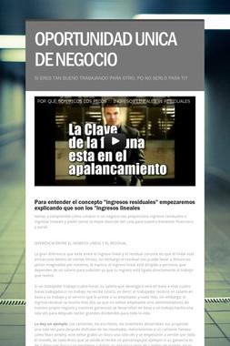 OPORTUNIDAD UNICA DE NEGOCIO