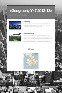 <Geography Yr 7 2012-13>