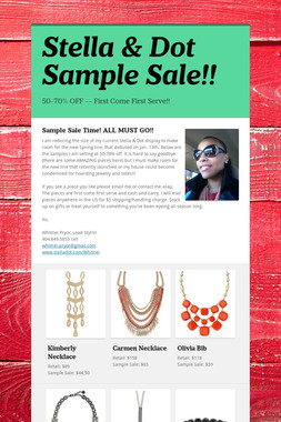 Stella & Dot Sample Sale!!
