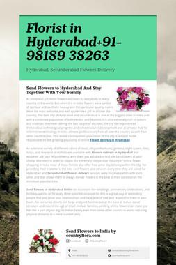 Florist in Hyderabad+91-98189 38263