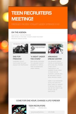 TEEN RECRUITERS MEETING!!