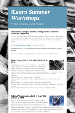 iLearn Summer Workshops