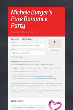 Michele Burger's Pure Romance Party