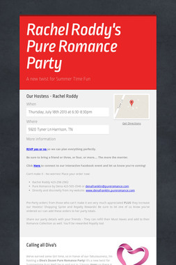 Rachel Roddy's Pure Romance Party
