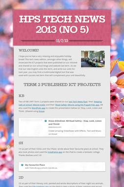HPS Tech News 2013 (No 5)