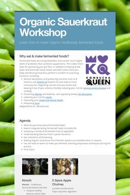 Organic Sauerkraut Workshop