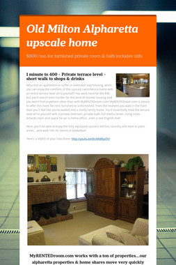 Old Milton Alpharetta upscale home