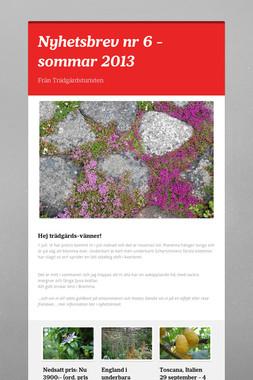 Nyhetsbrev nr 6 - sommar 2013