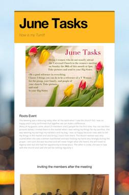 June Tasks