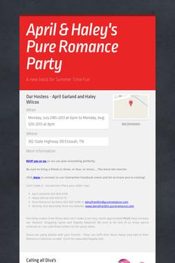 April & Haley's Pure Romance Party