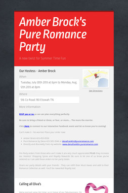 Amber Brock's Pure Romance Party