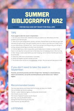 SUMMER BIBLIOGRAPHY NA2