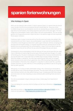 spanien ferienwohnungen
