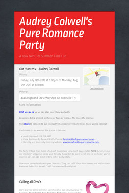 Audrey Colwell's Pure Romance Party