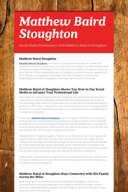 Matthew Baird Stoughton