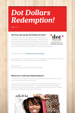 Dot Dollars Redemption!