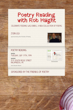 Poetry Reading with Rob Haight