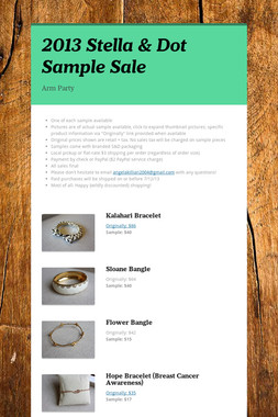 2013 Stella & Dot Sample Sale