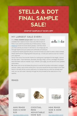 Stella & Dot FINAL Sample Sale!