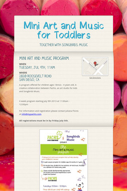 MIni Art and Music for Toddlers