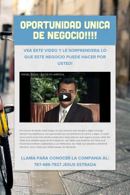 OPORTUNIDAD UNICA DE NEGOCIO!!!!