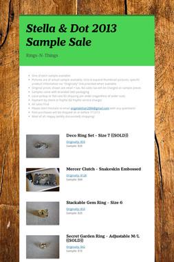 Stella & Dot 2013 Sample Sale