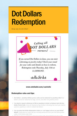 Dot Dollars Redemption