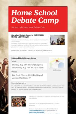 Home School Debate Camp