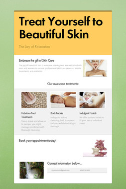 Treat Yourself to Beautiful Skin