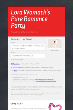 Lora Womack's Pure Romance Party