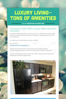 Luxury living~ Tons of amenities