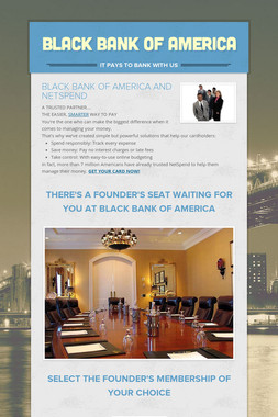 BLACK BANK OF AMERICA