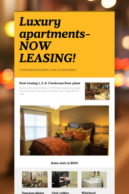 Luxury apartments- NOW LEASING!