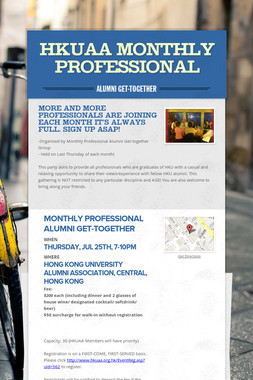 HKUAA Monthly Professional