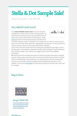 Stella & Dot Sample Sale!