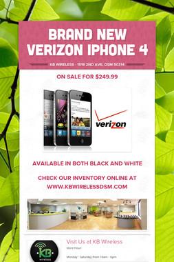 Brand New Verizon Iphone 4