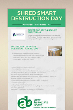 Shred Smart Destruction Day