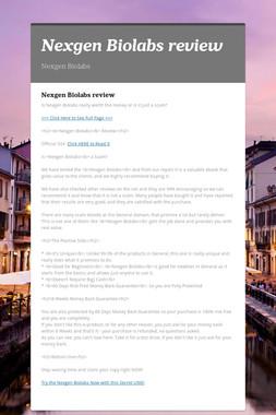 Nexgen Biolabs review