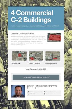 4 Commercial C-2 Buildings