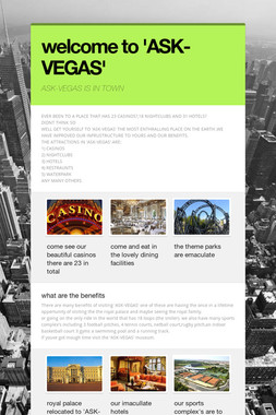 welcome to 'ASK-VEGAS'