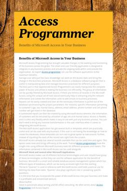 Access Programmer
