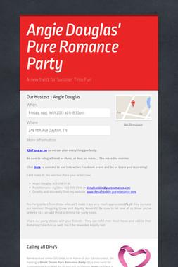 Angie Douglas'   Pure Romance Party
