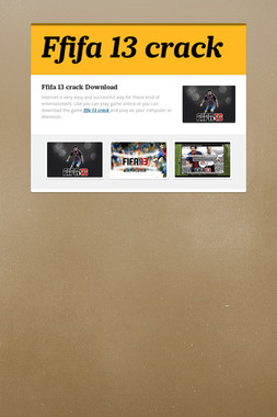Ffifa 13 crack