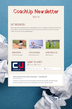 CoachUp Newsletter