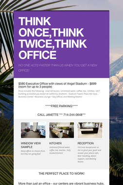 THINK ONCE,THINK TWICE,THINK OFFICE